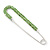 Classic Large Light Green Austrian Crystal Safety Pin Brooch In Rhodium Plating - 75mm Length - view 6