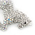 Clear/ AB Pave Set Austrian Crystal 'Horse' Brooch - 65mm Across - view 4