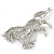 Clear/ AB Pave Set Austrian Crystal 'Horse' Brooch - 65mm Across - view 7