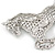 Clear/ AB Pave Set Austrian Crystal 'Horse' Brooch - 65mm Across - view 8