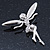 Silver Tone Clear Crystal 'Fairy' Brooch - 45mm L - view 2