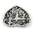 Marcasite AB Crystal Heart Brooch - 40mm L - view 4