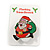 Flashing LED Lights Christmas Santa with Magnetic Closure Brooch - 35mm - view 3