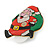 Flashing LED Lights Christmas Santa with Magnetic Closure Brooch - 35mm - view 5