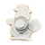 Flashing LED Lights Christmas Snowman with Magnetic Closure Brooch - 35mm - view 4