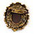 Vintage Inspired Champagne Crystal Cameo In Bronze Tone Metal - 50mm L - view 2