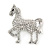 Small Clear Crystal Horse Brooch In Silver Tone Metal - 40mm - view 5