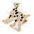 Gold Plated Crystal, Enamel Dalmatian Dog Brooch - 35mm - view 3