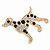 Gold Plated Crystal, Enamel Dalmatian Dog Brooch - 35mm - view 2