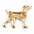 Gold Plated Crystal, Enamel Dalmatian Dog Brooch - 35mm - view 4