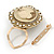 Diamante Cameo Scarf Pin/ Brooch In Gold Tone - 57mm Across - view 2