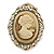 Diamante Cameo Scarf Pin/ Brooch In Gold Tone - 57mm Across - view 5