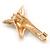 Crystal, Black/ White Enamel Giraffe's Head Brooch In Gold Tone - 35mm Tall - view 4