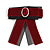 Vintage/ Retro Men And Women Universal Burgundy Red/ Black Velour, Organza Fabric Ribbon Pre-Tied Bow Tie Collar with Clear Crystal Detailing - 12cm L