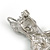 Cute Crystal Baby Fawn/ Young Deer Brooch/ Pendant In Silver Tone Metal - 48mm Tall - view 5