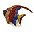 Statement Multicoloured Crystal Fish Brooch In Gold Tone - 55mm Long - view 7
