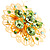 Jumbo Lightgreen Floral Earrings - view 2