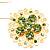 Jumbo Lightgreen Floral Earrings - view 3
