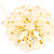 Jumbo Lightgreen Floral Earrings - view 4