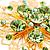 Jumbo Lightgreen Floral Earrings - view 5