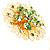 Jumbo Lightgreen Floral Earrings - view 10