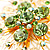 Jumbo Lightgreen Floral Earrings - view 8