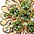 Jumbo Lightgreen Floral Earrings - view 9