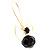 Jet-Black Bead Bow Earrings - view 4