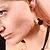 Jet-Black Bead Bow Earrings - view 6