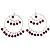 Jumbo Silver Twisted Lilac Costume Hoop Earrings
