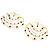 Gold Jet-Black Serpentine Costume Hoop Earrings - view 3