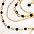 Gold Jet-Black Serpentine Costume Hoop Earrings - view 8