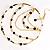 Gold Jet-Black Serpentine Costume Hoop Earrings - view 5