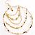 Gold Jet-Black Serpentine Costume Hoop Earrings - view 6