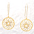 Gold Web Circle Earrings - view 2