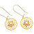 Gold Web Circle Earrings - view 1