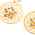 Gold Web Circle Earrings - view 4