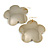 Oversized Gold-Tone Flower Dangle Earrings
