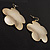 Oversized Gold-Tone Flower Dangle Earrings - view 5
