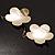 Oversized Gold-Tone Flower Dangle Earrings - view 10