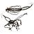 Long Tassel Earrings (Black) - view 4