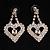 Clear Crystal Dangle Heart Earrings - view 2