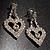 Clear Crystal Dangle Heart Earrings - view 4