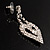 Clear Crystal Dangle Heart Earrings - view 5