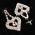 Clear Crystal Dangle Heart Earrings - view 7
