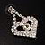 Clear Crystal Dangle Heart Earrings - view 8