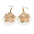 Round Shell Floral Earrings (White) - view 2