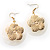 Round Shell Floral Earrings (White) - view 7