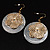 Round Shell Floral Earrings (White) - view 8