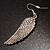 Silver Tone Clear Crystal Wing Earrings - 65mm L - view 4